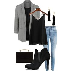 $100 Set Blazer and Jeans by bckastl on Polyvore featuring polyvore, fashion, style, Blazé Milano, MANGO, Forever 21 and clothing