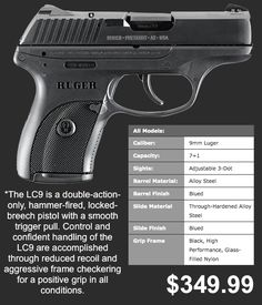 Image detail for -Ruger LC9 9mm Concealed Carry Personal Protection Pistol