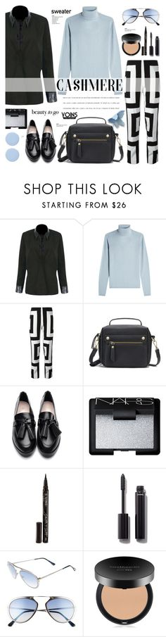 """""""Cashmere sweater.blazer.geometric print trousers - Yoins 4.21"""" by cly88 ❤ liked on Polyvore featuring IRIS VON ARNIM, Kenzo, NARS Cosmetics, Smith & Cult, Chanel, Tom Ford, Bare Escentuals and Deborah Lippmann"""