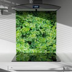 Digitally Printed Glass Splashback - Foliage