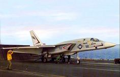 RA-5C Vigilante of RVAH-1 Squadron gets ready to be  catapulted off the carrier deck.