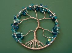 How to make a wire wrapped pendant. Wire Wrapped Tree Of Life Ornament - Step 15