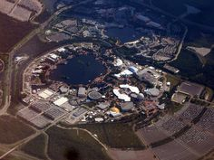 Epcot Center from Above - Disney World