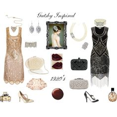 """Gatsby Inspired"" by natureschild on Polyvore"