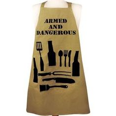 Armed and Dangerous Men's Apron