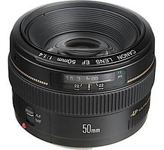 Canon EF 50mm f/1.4 USM Low light Lens. Great for portraits and reasonably priced. Canon 50mm Lenses