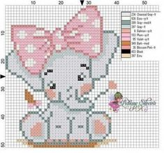66 Super Ideas For Crochet Baby Elephant Pattern Cross Stitch - top crop , polos cortos , dresses , summer crochet Elephant Cross Stitch, Cross Stitch Animals, Cross Stich Patterns Free, Cross Stitch Designs, Crochet Elephant Pattern, Crochet Patterns, Loom Patterns, Embroidery Patterns, Cross Stitching