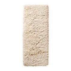 IKEA - GÅSER, Rug, high pile, 56x150 cm, , The high pile dampens sound and provides a soft surface to walk on.Durable, stain resistant and easy to care for since the rug is made of synthetic fibres.The high pile makes it easy to join several rugs, without a visible seam.