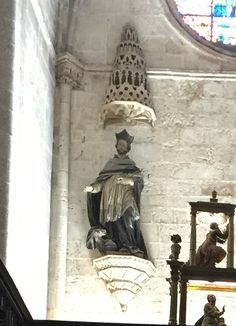 St. Dominic as a canon of the cathedral church. Cathedral of Burgo de Osma