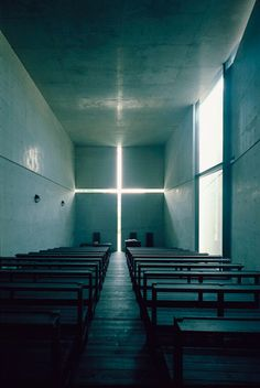 Church of the Light (interior), Ibaraki, Osaka, Japan, 1989   © Tadao Ando Architect & Associates