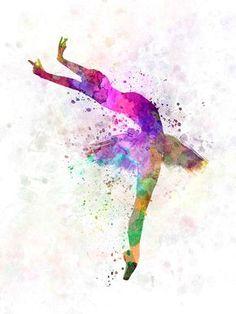 Woman ballerina ballet dancer dancing 05 SKU 0580 by Paulrommer