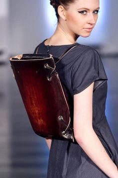 Unique piece: leather backpack