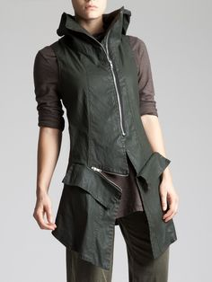 RESIN COTTON LYCRA GILET - JACKETS, JUMPSUITS, DRESSES, TROUSERS, SKIRTS, JERSEY, KNITWEAR, ACCESORIES - Woman -
