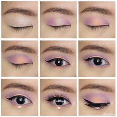 Marc Jacobs Style Eye Con no. Halo Eye Makeup, Eye Makeup Tips, Makeup Inspo, Makeup Inspiration, Beauty Makeup, Pastel Goth Makeup, Pastel Eyeshadow, Pastel Goth Nails, Pastel Hair