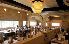 Cardboard restaurant