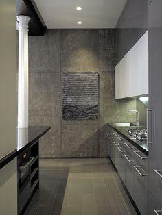 Bond Street Loft - contemporary - Kitchen - New York - Axis Mundi Loft Interior Design, Loft Design, Interior Exterior, Interior Styling, Interior Architecture, House Design, Design Homes, Interior Modern, Kitchen Interior