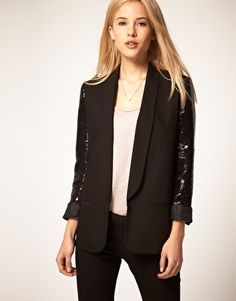 ASOS Party Blazer With Sequin Sleeves - StyleSays