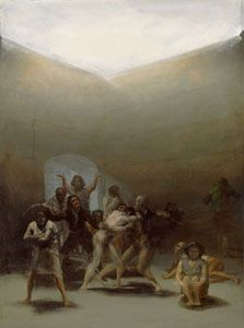 Francisco de Goya y Lucientes - Witches' Sabbath (The Great He-Goat) - Francisco Goya - Wikipedia, the free encyclopedia Spanish Painters, Spanish Artists, Art Database, Aragon, Old Master, Les Oeuvres, Art History, Printmaking, At Least