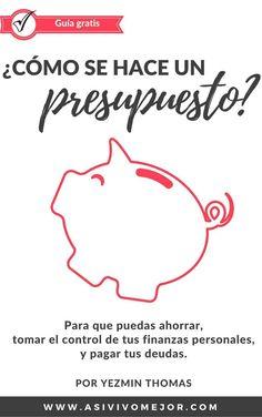 Descarga tu guia gratis para hacer un presupuesto mensual en el hogar #dinero #presupuesto #finanzaspersonales #finanzas #ahorros #asivivomejor