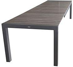 Amazon.de: Wohaga Aluminium Gartentisch Ausziehbar 205/275x100cm Mit  Polywood Tischplatte Gartenmöbel