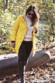 Yellow anorak and a