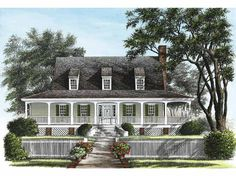 Cottage House Plan with 1909 Square Feet and 3 Bedrooms from Dream Home Source | House Plan Code DHSW55257