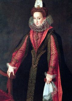 Spanish court lady, probably Isabel de Valois, Queen of Spain, by Sofonisba Anguissola, 16th century
