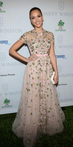 Jessica Alba in Red Carpet Florals
