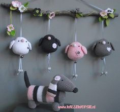 New Crochet Baby Toys Mobiles Etsy Ideas Crochet Baby Mobiles, Crochet Mobile, Crochet Baby Toys, Crochet Birds, Crochet Amigurumi, Crochet Art, Easy Crochet Patterns, Amigurumi Patterns, Crochet Animals