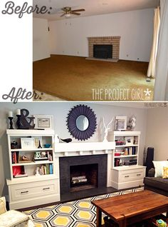 Before & After. AMAZINg!!! Project | Jenallyson - The Project Girl - Fun Easy Craft Projects including Home Improvement and Decorating - For Women and Moms