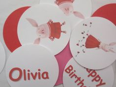Olivia party decorations - I think I could make these myself