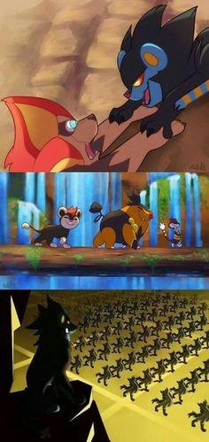 When Pokémon Meets The Lion King - Pokemon Pokemon Life, Pokemon Comics, Pokemon Memes, Pokemon Funny, Pokemon Go, Pokemon Stuff, Digimon, Pokemon Fusion, Nerdy