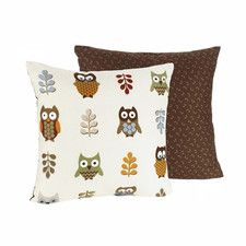 Add a charming accent to your home decor with this decorative pillow from Sweet JoJo Designs. Featuring the 'Night Owl' print on the front, the cotton throw pillow reverses to a tonal brown print on t Owl Room Decor, Owl Bedding, Bedding Sets, Owl Pillow, Owl Always Love You, Owl Print, Kids Pillows, My Living Room, Decorative Accessories