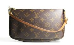 e712bbe0973 Louis Vuitton Pochette Accessories In Monogram Coated Canvas and Vanchetta  Leather Shoulder Bag - Tradesy Louis