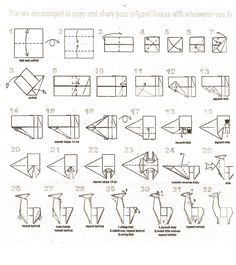 Make your own origami llama