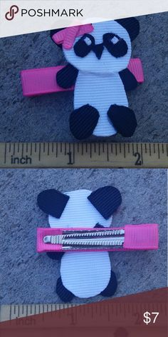 Lil panda handmade boutique hair clip Brand-new handmade boutique hair clip Accessories Hair Accessories