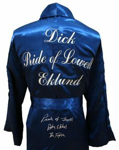 "Pride of Lowell"" Dick Eklund ""The Fighter"" Signed Robe - Autographed Boxing Robes and Trunks by Sports Memorabilia. $221.25. Pride of Lowell"" Dick Eklund ""The Fighter"" Signed Robe"