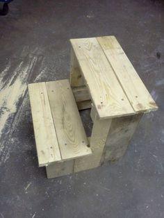 Pallet to shop step stool - by A Slice of Wood Workshop @ LumberJocks.com ~ woodworking community