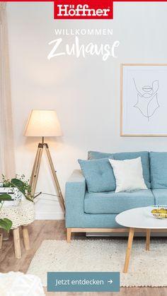 Lass' dich inspirieren und entdecke die neuesten Wohntrends bei Möbel Höffner.  #einrichtungsideen #wohnen #einrichtung #dekoration #möbel #dekoideen #interior #design #interiorinspo #inspiration #dekor #homeinspiration #homedecor #tablesetting #livingroom #dining #decoration #furniture Big Cushions, Sofa Pillows, Couch, House Plans With Pictures, Scandi Chic, House Plans One Story, Big Sofas, Three Seater Sofa, Custom Sofa