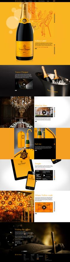 Veuve Clicquot on Web Design Served Game Design, Design Sites, Graphisches Design, Logo Design, Layout Design, Branding Design, Webdesign Inspiration, Web Inspiration, Interface Web