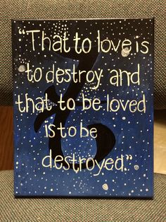 Mortal Instruments canvas quote painting