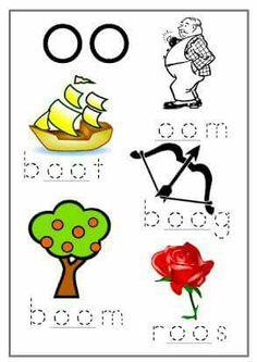 Die oo klank in Afrikaans Preschool Learning Activities, Classroom Activities, Kids Learning, 2nd Grade Worksheets, School Worksheets, Teaching First Grade, Teaching Aids, Afrikaans Language, Grade 1 Reading