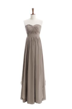 Fancy floor length alternate detailed chiffon dress