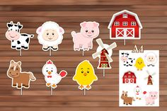 Farm Animals Centerpiece Instant Download PDF