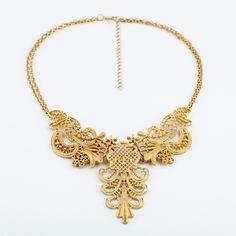 Collar de Estilo de Vintage y Romántico de Forma de Floral Para las Mujeres (Oro) | Sammydress.com
