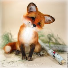Купить Лисёнок Мистер Фокс - рыжий, лиса, лиса игрушка, лиса из шерсти, лисичка, лисица