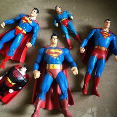 I used to collect #superman #actionfigures #dc #dccomics #dcdirect #mattel #superpowers #kenner #DTKCollection #jla #jlaanimated #supermananimated #darkknightreturns #frankquitely #manofsteel by davidthekiller