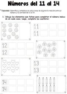 Números del 11 al 14: 5 años - Material de Aprendizaje