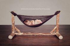 Custom Wooden Hammock Newborn Photography by HeatherLynnphotos, $200.00