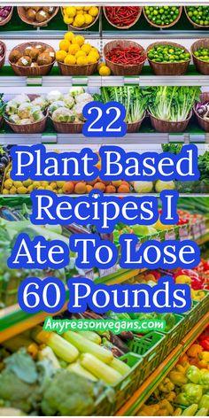 Plant Based Diet Meals, Vegan Recipes Plant Based, Plant Based Whole Foods, Plant Based Eating, Plant Based Diet Plan, Plant Based Snacks, Vegetarian Recipes, Whole Food Recipes, Diet Recipes